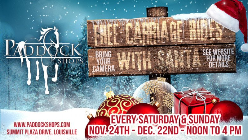FREE Carriage Rides With Santa