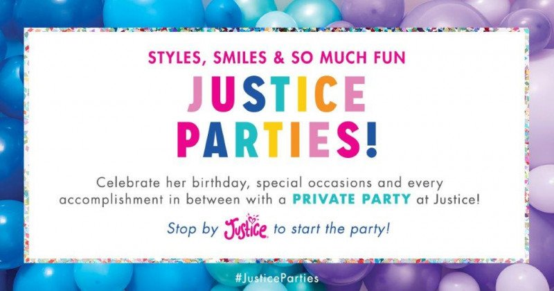 Schedule your next party at Justice!