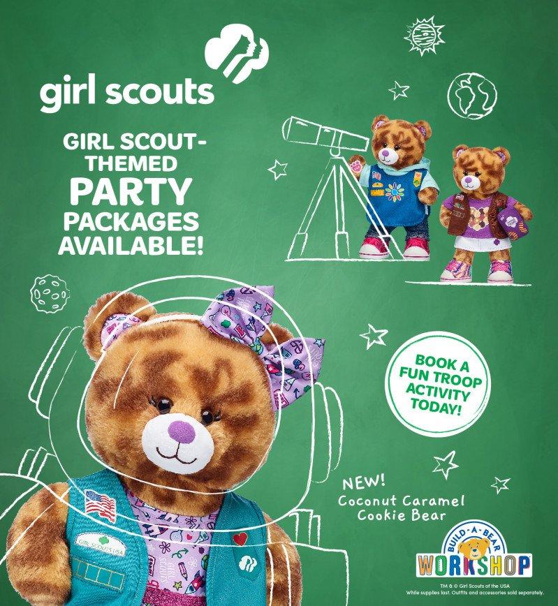 Book Your Girl Scout-Themed Party Package at Build-A-Bear Wo