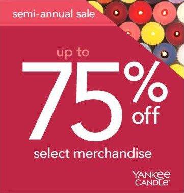 Yankee Candle's Semi Annual Sale