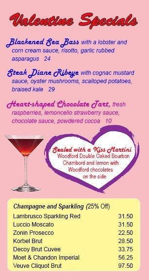 Valentine Specials at Martini Italian Bistro
