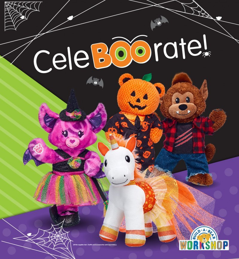 The best Halloween treat is a new friend at Build-A-Bear Workshop!