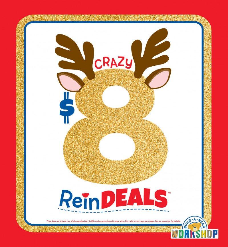Crazy $8 ReinDEALS Are Back at Build-A-Bear Workshop!®