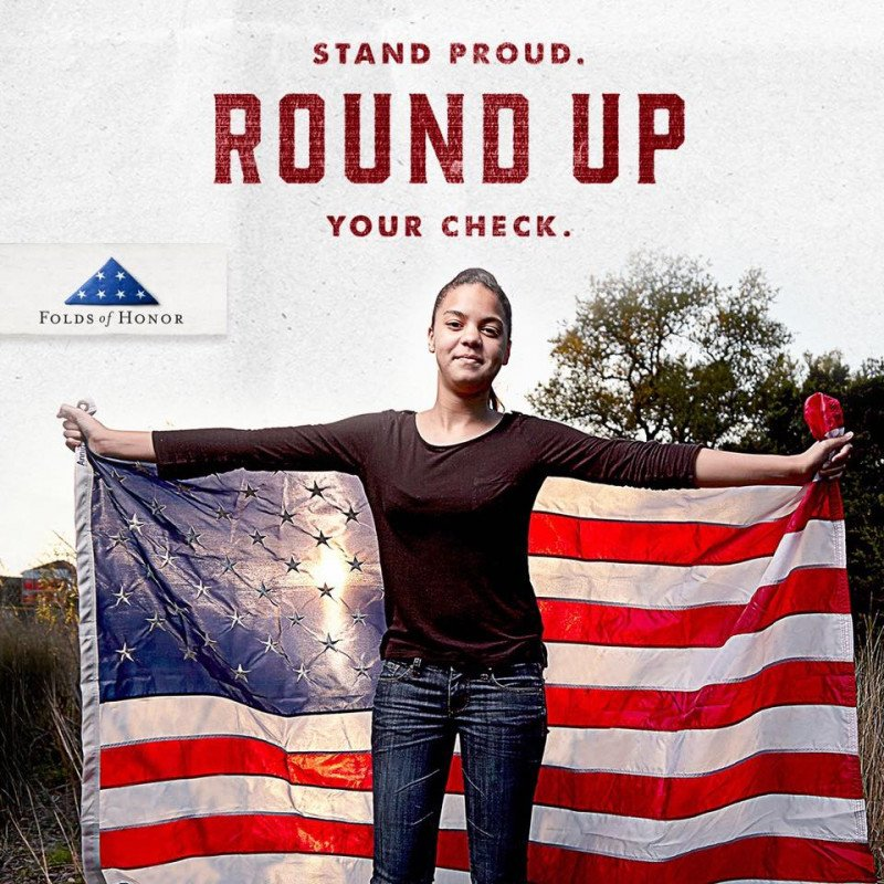 Stand Proud. Round up Your Check