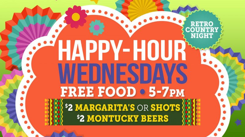 Happy Hour Wednesdays!