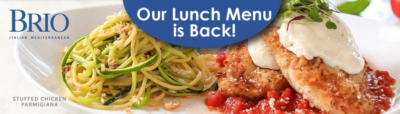 Our Lunch Menu is Back!