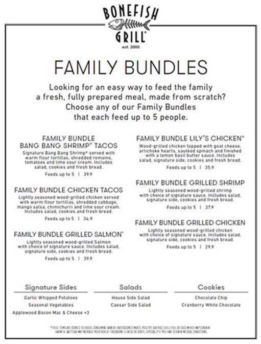 Offering Family Bundles