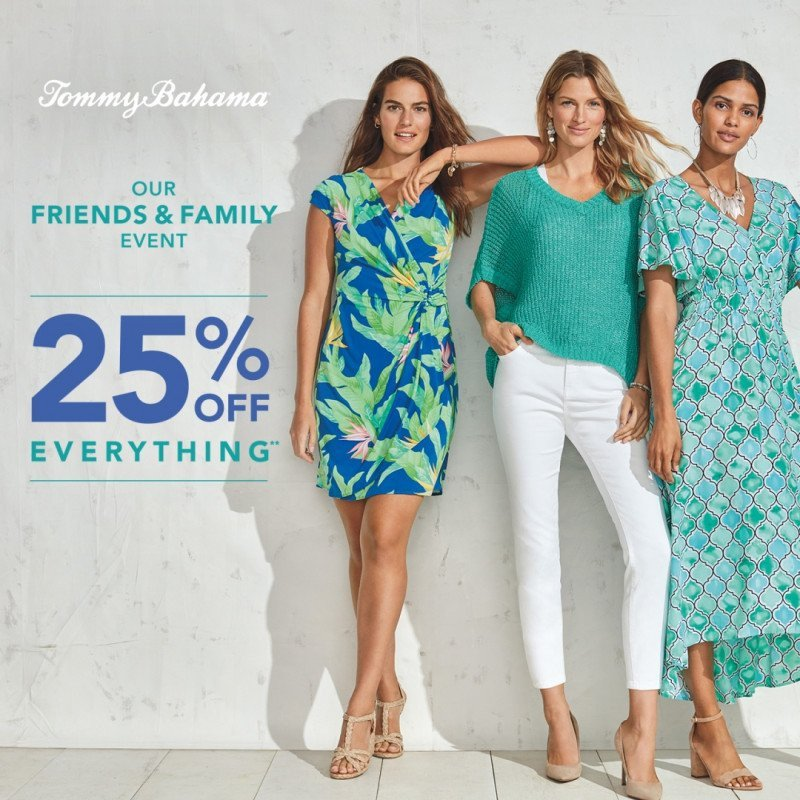 Tommy Bahama 25% off Entire Store
