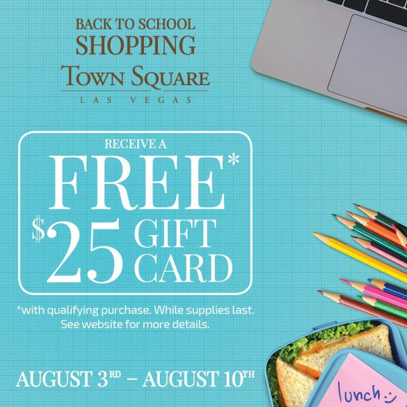 Back to School Shopping at Town Square Las Vegas