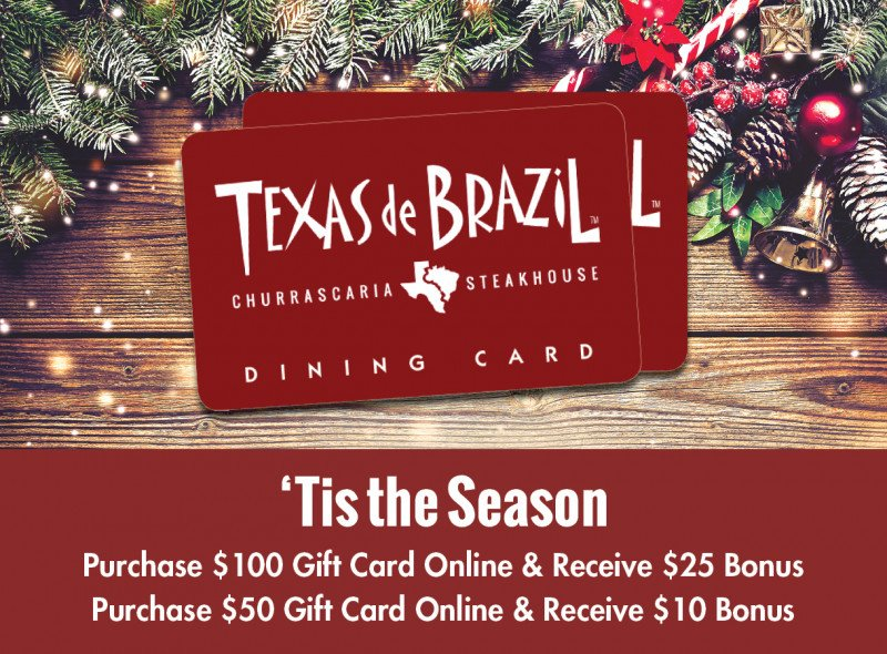 Holiday Gift Card Sale at Texas de Brazil