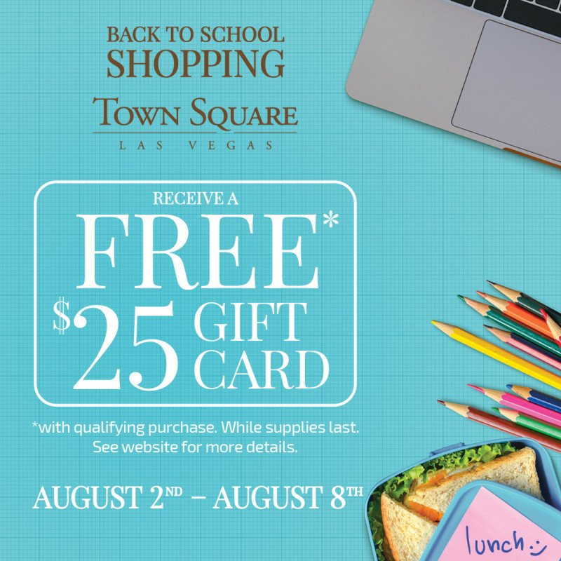 Town Square is Here for Back to School Shopping!