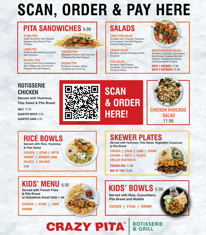 Scan, Order and Pay Here