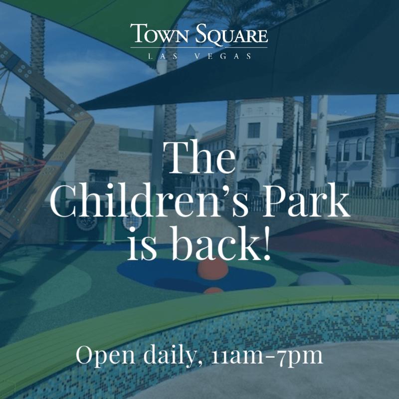 The Children's Park is OPEN!