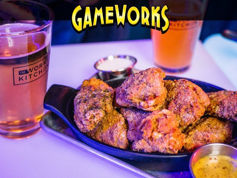 During regular season NFL games, it's all you can eat at Gameworks!