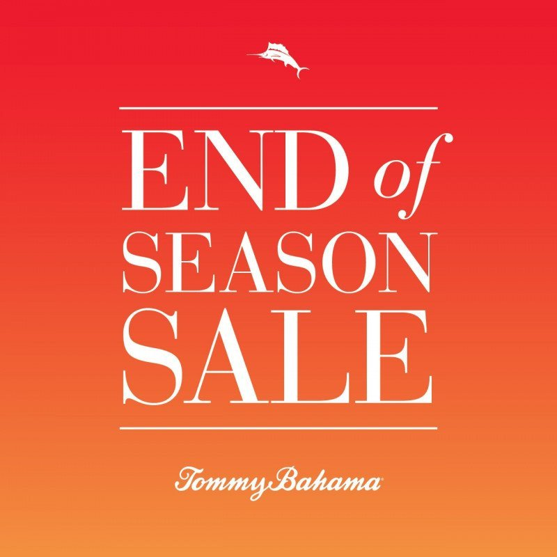End of Season Sale at Tommy Bahama