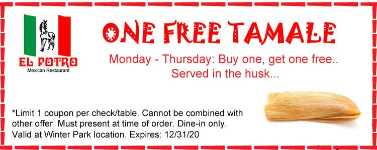 Get a free tamale when you buy one!