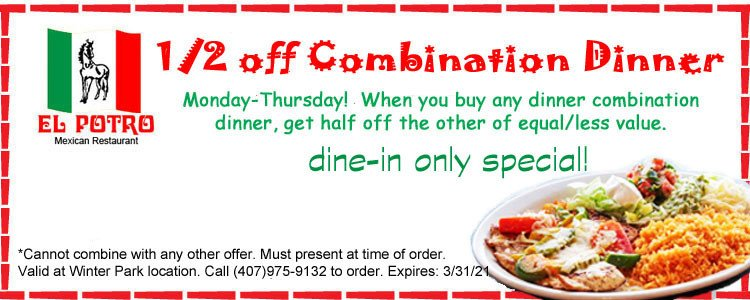 1/2 Off Any Entree With Purchase of Entree*