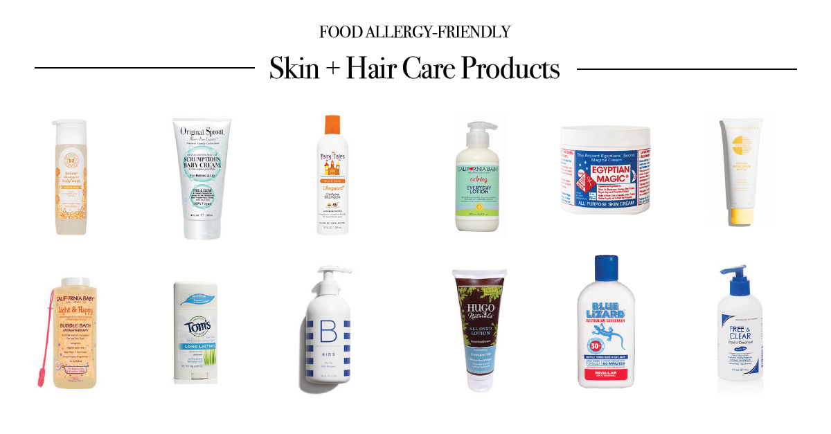 Top Food Allergy Friendly Skin Hair Care Products