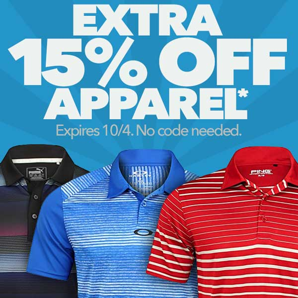 Extra 15% Off Apparel