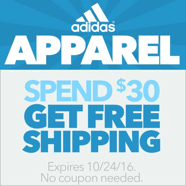 adidas Apparel: Spend $30, Get Free Shipping