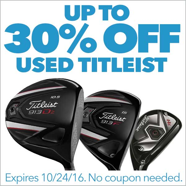 Up To 30% Off Used Titleist