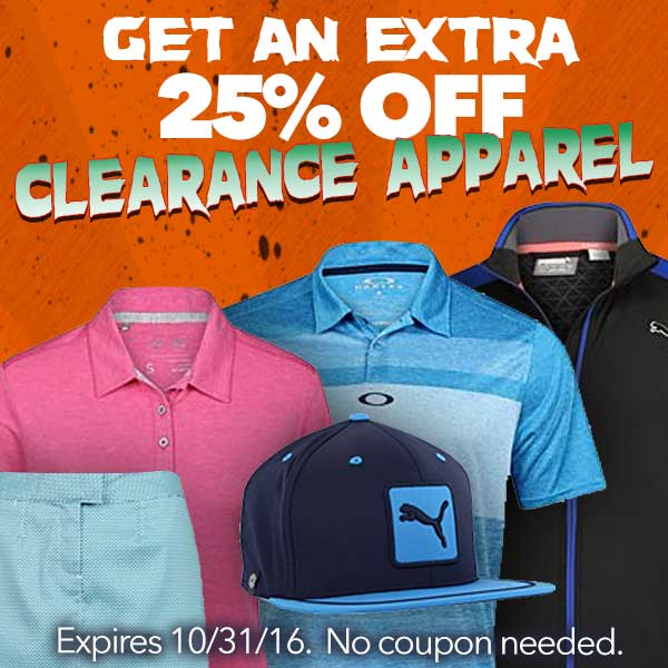 Extra 25%-50% Off Clearance Apparel