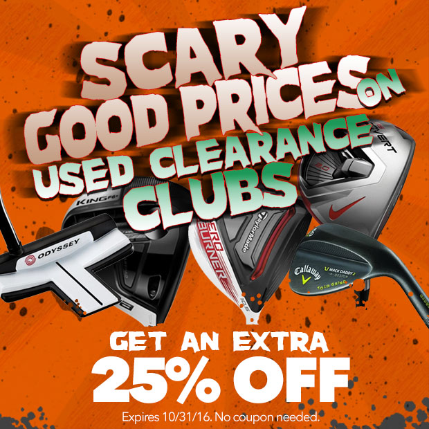 Scary Good Prices on Used Clearance Clubs