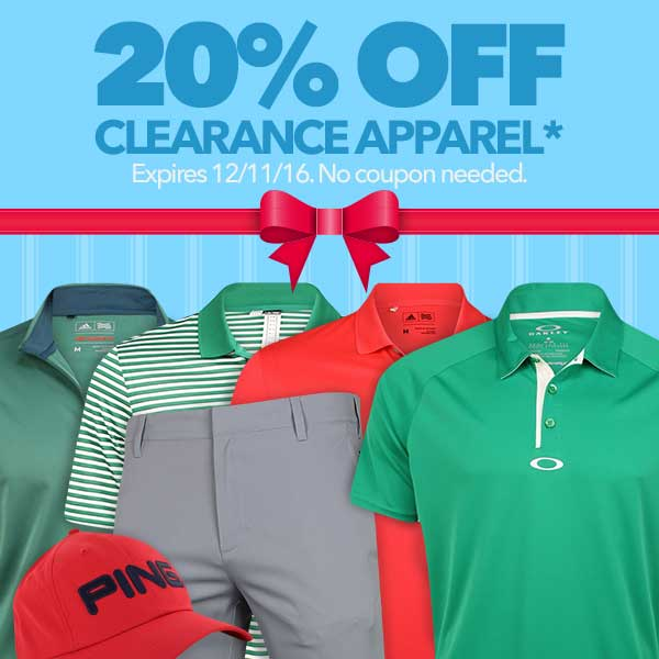 20% Off Clearance Apparel
