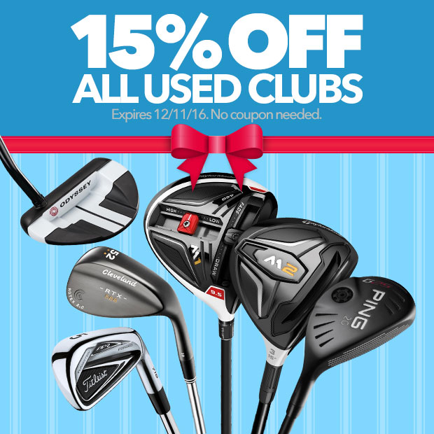 15% Off All Used Clubs