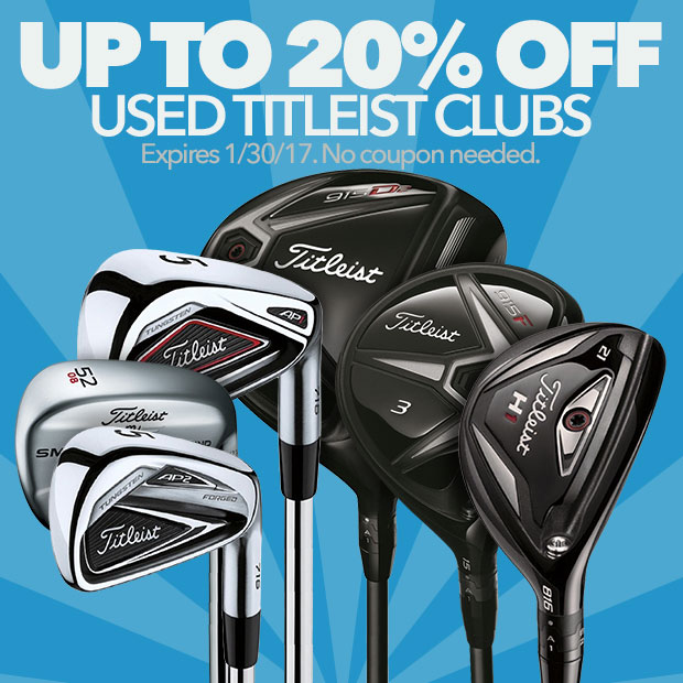 Up to 20% Off Used Titleist Clubs