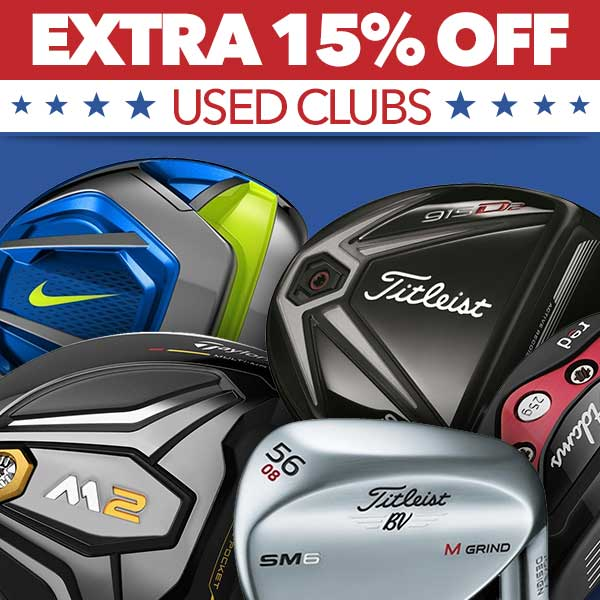 Extra 15% Off Used Clubs