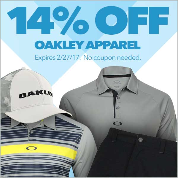 14% Off Oakley Apparel