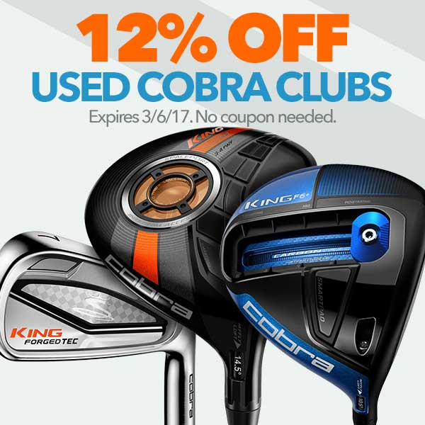 12% Off Used Cobra Clubs