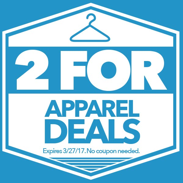 2 for Apparel Deals
