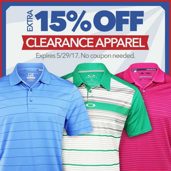 Extra 15% Off Clearance Apparel