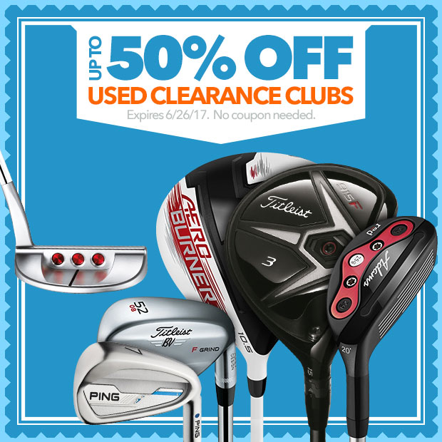 Up to 50% Off Used Clearance Clubs