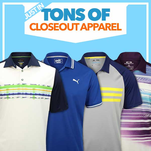 Just In: Tons of Closeout Apparel