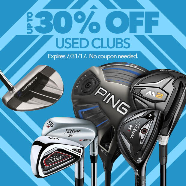 Up To 30% Off Used Clubs