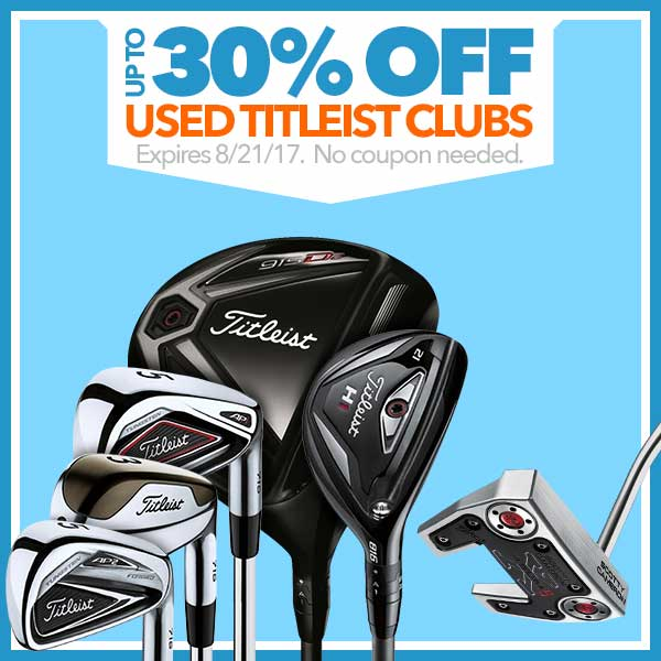 Up to 30% Off Used Titleist Clubs
