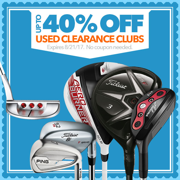 Up to 40% Off Used Clearance Clubs