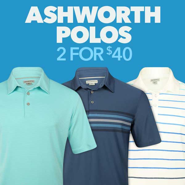 Ashworth Polos: 2 for $40