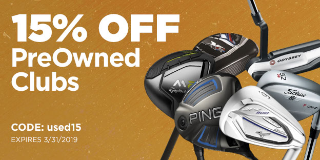 15% Off PreOwned Clubs | Use Code: used15