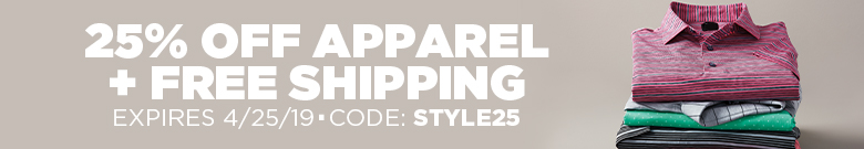 25% Off Apparel + Free Shipping