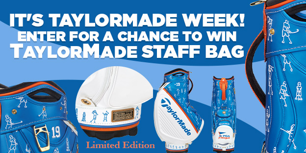 Enter for a chance to win Limited Edition TaylorMade Staff Bag
