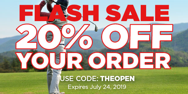 20% Off Your Order. Expires 7/24/2019. Use Code: theopen
