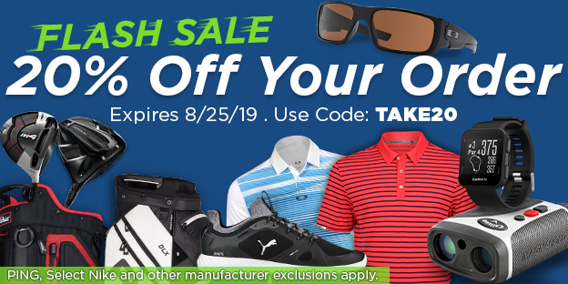 Flash Sale: 20% Off Your Order. Expires 8/25/2019. Use Code: TAKE20. PING and other exclusions apply.