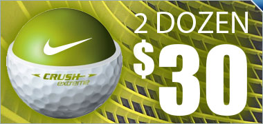 Buy 2 Dozen Nike Crush Golf Balls for $30