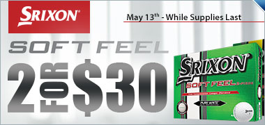 Buy 2 Dozen Srixon Soft Feel Golf Balls for $30