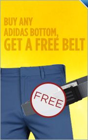 Buy Adidas Pants or Shorts, Get Free Belt