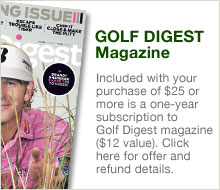 FREE Golf Digest Magazine Subscription with Purchase over $25